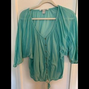 American rag company drawstring blouse